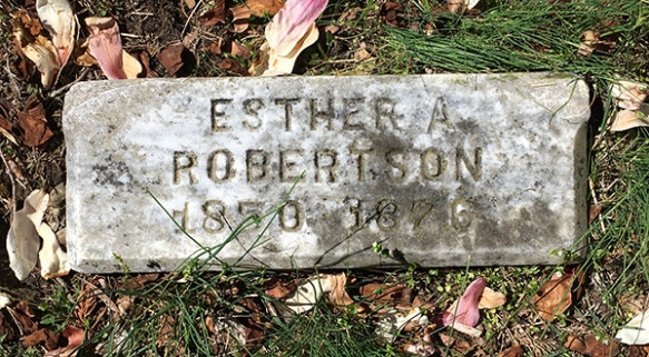 Esther A. Robertson, 1850-1876