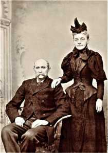James Washington Thomas Robertson, seated, with Mary Priscilla Robertson