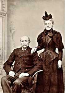 James Washington Thomas Robertson, seated, with Mary Priscilla Robertson